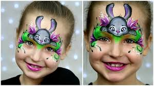 bunny face paint bunny face paint zootopia bunny makeup for kids easter face painting tutorial 1920 x 1080