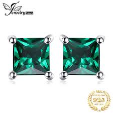 <b>Jewelrypalace</b> Square 0.6ct Created Emerald 925 Sterling Silver ...