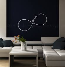 infinity let it be wall decal dorm room decor bedroom in for living inspirations 9