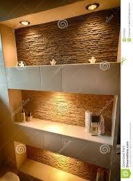Decorative Shelf Stock Photos Image - Modern bathroom shelving