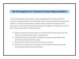 customer service representative duties for resumes customer service rep job description for resume the stylish