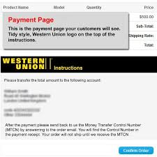 - Union Opencart Payment Western