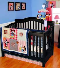 Baby Mickey Mouse Disney Sports Theme Nursery Crib Bedding Set with Soccer  Balls, Baseball and