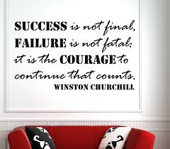 Ffa Quotes Cool Winston Churchill Success Is Not FinalWall Decal Quotes