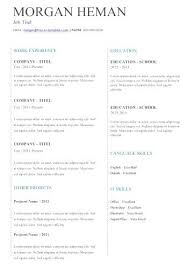 Resume Template For Word 2013 Free Ms Word Resume Templates Great ...