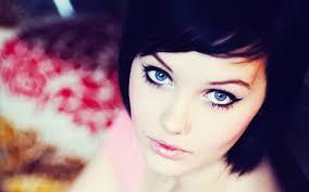 Portrait Girl Blue Eyes Photo wallpaper ...