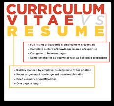 Resume Vs Cv Interesting Understanding The Difference Between A CV And A Resume Engineering