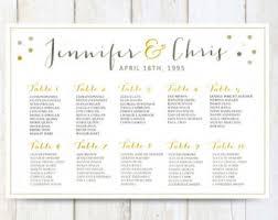 Etsy Wedding Seating Chart White Wedding Seating Chart Poster Digital Gold Wedding Etsy