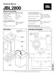 jbl 2800. pdf for jbl speaker jbl2800 manual jbl 2800 e