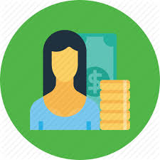 Office Salary Currency Employee Finance Money Office Salary Woman Icon