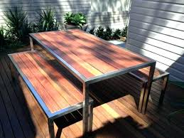 stainless steel outdoor table stainless steel and wood outdoor furniture for 1 of stainless steel and