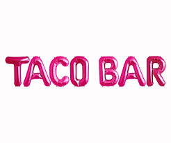 Pink theme cool bar Party Image Etsy Taco Bar Balloons Lets Fiesta Theme Party Decorations Etsy