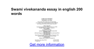 swami vivekananda essay in english words google docs
