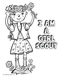 Daisy Girl Scout Coloring Pages Birthday Girl Coloring Pages Day Low