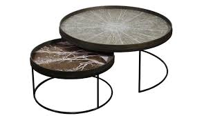 ethnicraft tray low xl coffee table set