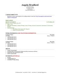 How To Write A Student Resume 0 College Education Work Experience