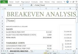 Excel Break Even Analysis Template Free Simple Break Even Analysis Template Chart Excel