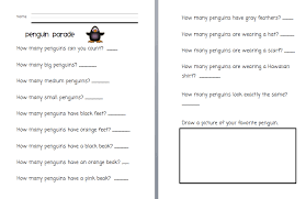 The Very Busy Kindergarten: Penguin ParadeClick Here if you would like a copy of the Penguin Parade Worksheet.