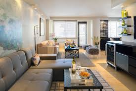 Apartment Renovation In Manhattan Modern Living Room New York New Manhattan One Bedroom Apartments Model Remodelling