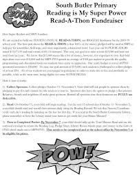 Read A Thon Fall Fundraiser South Butler Primary Pto