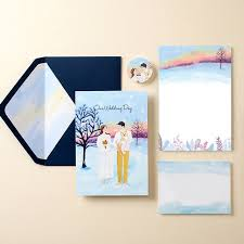 32pcs Hand Painted Wedding Invitation Cards With Envelope Free