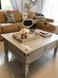 chalk painting coffee table makeover decorating on a budget throughout painted tables design 11