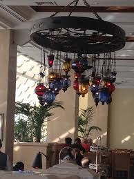 turkish chandelier in the dining room