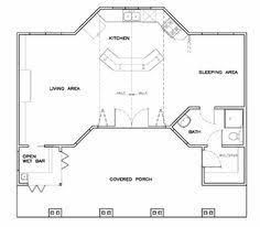 Exellent Pool House Plans With Bar Cottage Craftsman Plan 57857 Throughout Models Design