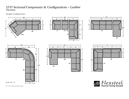 flexsteel leather 3535 thornton sectional group configurations and dimensions page 002