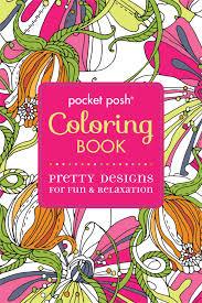 Amazon Com Pocket Posh Adult Coloring Book Pretty Designs For