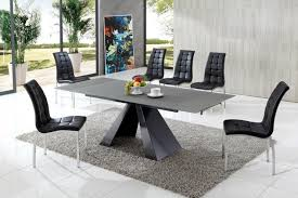 eliot drive modern glass dining table with akira dining chairs