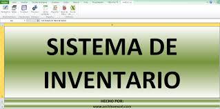 Inventario Excel Sistema De Inventarios Aplicativo En Excel Archivo Excel