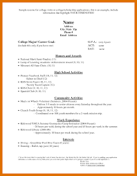 Scholarship Resume Outline 5 6 Scholarship Resume Sowtemplate