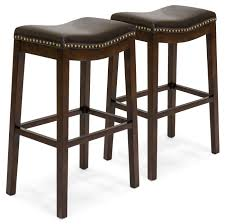 best choice products set of 2 backless faux leather upholstered 31 counter stools w
