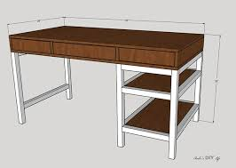 how to build a diy desk with storage free plans
