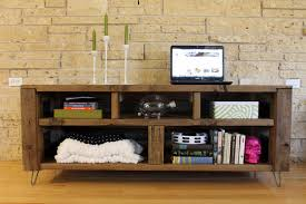 ... Contemporary Room Decoration With Teak Wood Media Console Table Design  Ideas : Top Notch Room Decoration ...