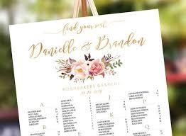 Wedding Seating Chart Seating Chart Alphabetical Seating Chart Template Wedding Assignment Seating Chart Poster Wedding Decor Signs
