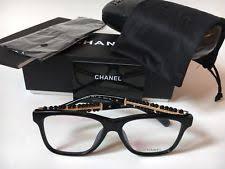 chanel 3282. nib chanel ch 3368-b c.501 black pearl eyeglasses frames size 54 chanel 3282