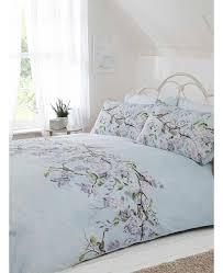 eloise fl double duvet cover and pillowcase set duck egg