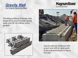 Small Picture Wall Solutions creates segmental retaining wall systems magnum stone