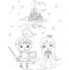 castle and princess coloring free princess and knight coloring