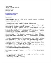 Sample Copy Editor Resume 7 Free Documents Download In Pdf Word