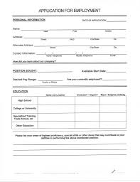 Free Resumes To Fill Out And Print Fill Out Resume Online Resume