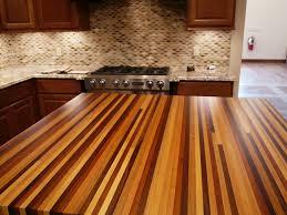 custom wood counter top edge grain mixed wood species