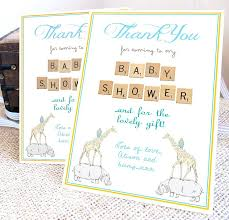 Personalized Baby Shower Thank You Cards Sample Food Menu