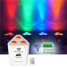Battery Operated Up And Down Light Details About Rockville Rockwedge Led Rgbwa Uv Battery Powered Wireless Dmx White Par Up Light