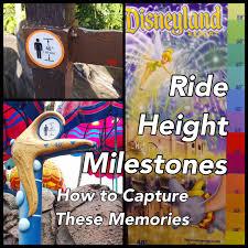Disneyland Resort Ride Height Milestones