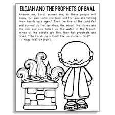 The mount carmel forest fire was a deadly forest fire that started on mount carmel in northern israel, just south of haifa. Elijah And Baal Worksheets Teaching Resources Tpt