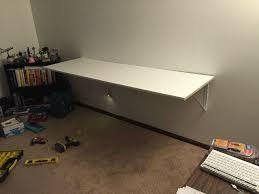 wall mount an ikea linnmon table