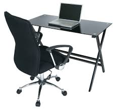 the most office desk and chair set black glass office desk